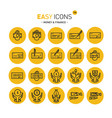 easy icons 13 money vector image vector image