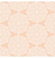 Elaborate hand-drawn white pattern on pink vector image