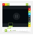 Flat media player interface with video loading bar vector image