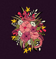 floral jungle with snakes pattern vector image vector image