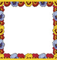 frame of flowers beautiful frame of colorful vector image vector image