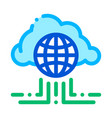 global internet cloud networking sign icon vector image