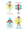 go play do motto on skateboarding day 21 june vector image