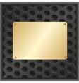 golden plaque vector image vector image