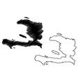 haiti map vector image vector image