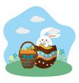 happy easter celebration design vector image