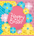 happy easter colorful lettering vector image vector image