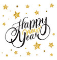 happy new year card with lettering with stars vector image vector image