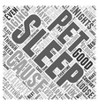 Healthy Aging and a Good Nights Sleep Word Cloud vector image vector image