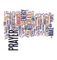 incredible power prayer text background vector image vector image