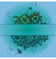 Invitation card with doodle flowers vector image vector image