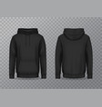 isolated back and front man hoody on transparent vector image vector image