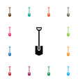 isolated shovel icon spade element can be vector image vector image