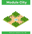 isometric park with trees vector image vector image