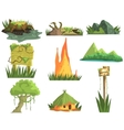 Jungle Landscape Elements vector image vector image