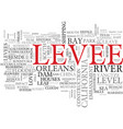 levee word cloud concept vector image vector image