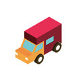 logistic truck transport vehicle isometric icon vector image