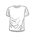 Men s t-shirt sketch vector image