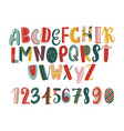 modern hand drawn latin font or english alphabet vector image vector image