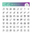 music line icons set vector image vector image