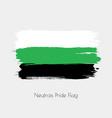 neutrois lgbt watercolor flag vector image vector image