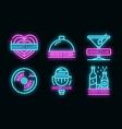 nightclub logo set neon
