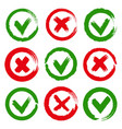 paintbrush yes and no checkmarks vector image vector image
