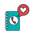 phone agend isolated flat icon vector image vector image