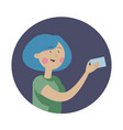pretty girl holding credit card for pay vector image vector image