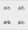 realistic competition bicycle training vehicle vector image vector image