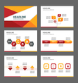 Red orange presentation templates Infographic set vector image vector image