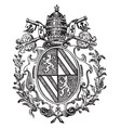 roman catholic coat of arms typically adopts vector image vector image