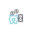 savings management thin line stroke icon vector image