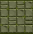 seamless texture of green stone on grass vector image vector image