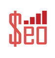 seo money vector image vector image