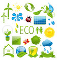 Set of green ecology icons 3 vector image vector image
