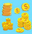 Set of money coins vector image