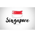singapore country flag concept with grunge design vector image