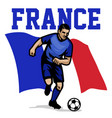 soccer player of france vector image vector image
