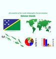 solomon islands all countries of the world vector image vector image