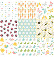 spring easter patterns seamless backgroun vector image