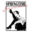 springtime love is in air hand drawn vector image vector image