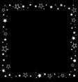 square ornament white stars on a black vector image