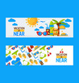 summer vacation banner vector image vector image