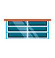 supermarket counter icon vector image