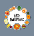 thanksgiving greeting card in flat style design vector image