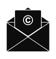 trademark envelope icon simple style vector image