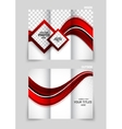 Tri-fold brochure abstract design vector image vector image
