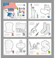 USA coloring book Patriotic book for coloring vector image vector image