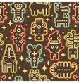 Vintage seamless texture with robots vector image vector image